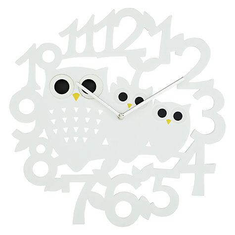 Buy John Lewis Orson Owl Wall Clock, Dia.40cm Online at johnlewis.com