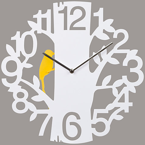 Buy John Lewis Winston Woodpecker Wall Clock, Dia.42cm Online at johnlewis.com