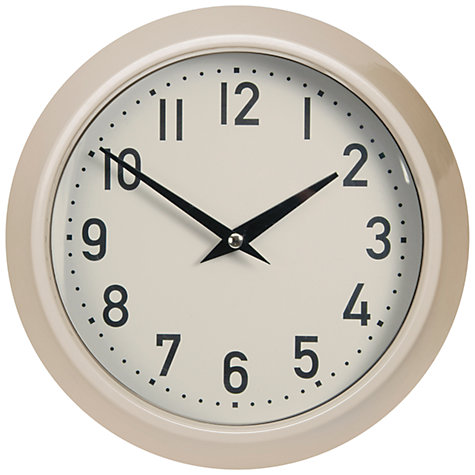 Buy Garden Trading Large Outdoor Clock, Clay Online at johnlewis.com