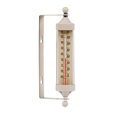 Garden Trading Outdoor Small Tube Thermometer, Clay