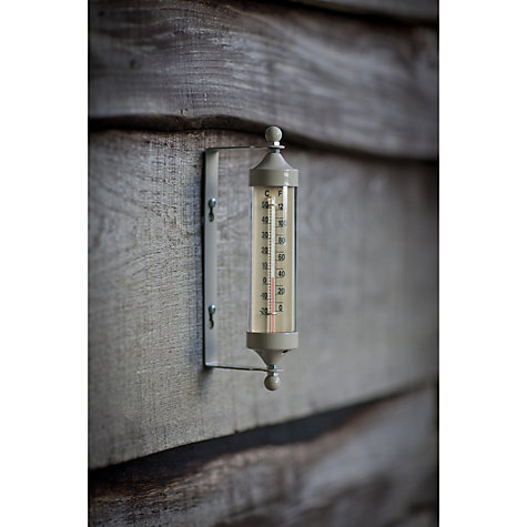 Buy Garden Trading Outdoor Small Tube Thermometer, Clay Online at johnlewis.com