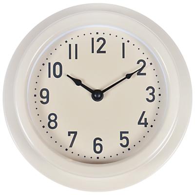 Image of Garden Trading Small Outdoor Clock, Clay