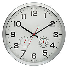Buy John Lewis Abe Temperature Wall Clock, Dia.32cm Online at johnlewis.com