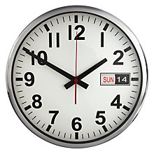 Buy John Lewis Aden Wall Clock, White Online at johnlewis.com