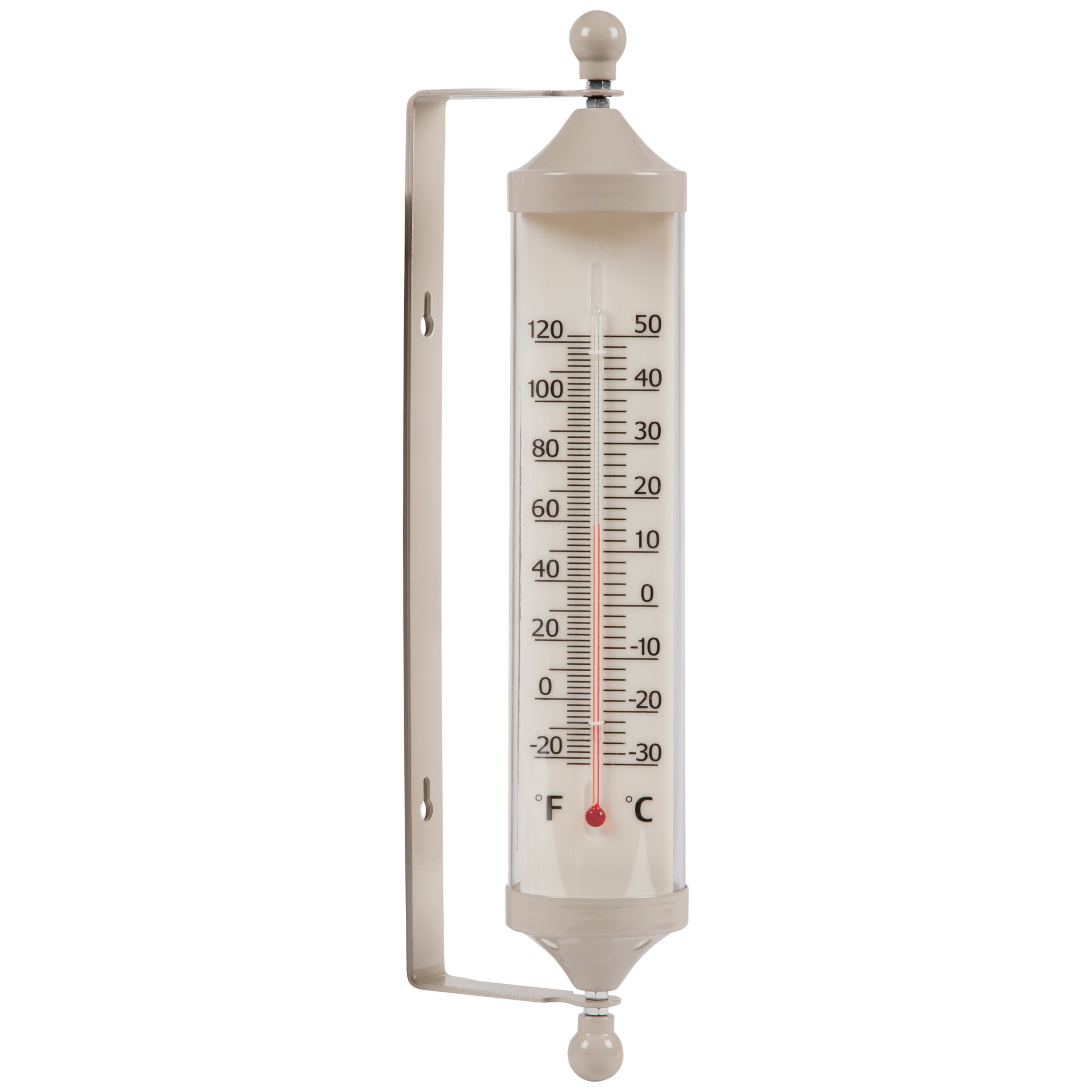 Garden Trading Outdoor Large Tube Thermometer, Clay