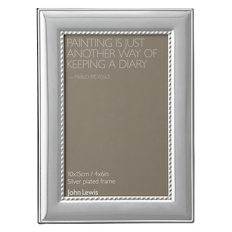 "Buy John Lewis Adlburgh Silver Plated Photo Frame, 4 x 6"" (10 x 15cm) Online at johnlewis.com"