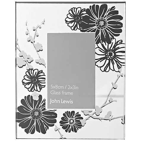 "Buy John Lewis Black Flower Photo Frame, 2 x 3"" (5 x 8cm) Online at johnlewis.com"