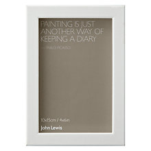 "Buy John Lewis No Mount Box Frame, White, 4 x 6"" (10 x 15cm) Online at johnlewis.com"
