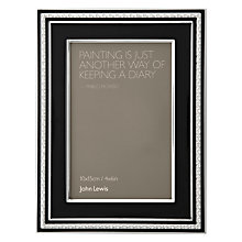 "Buy John Lewis Crystal Border Photo Frame, Black, 4 x 6"" (15 x 10cm) Online at johnlewis.com"