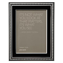 "Buy John Lewis Crystal Border Photo Frame, Black, 5 x 7"" (13 x 18cm) Online at johnlewis.com"