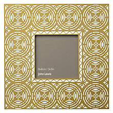 "Buy John Lewis Gold Circles Photo Frame 3 x 3"" (7.5 x 7.5cm) Online at johnlewis.com"
