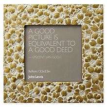 "Buy John Lewis Gold Daisy Photo Frame, 3.5 x 3.5"" (9 x 9cm) Online at johnlewis.com"