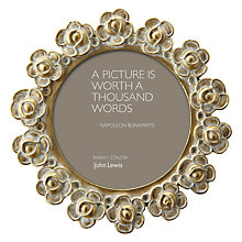 "Buy John Lewis Gold Rose Round Photoframe, Dia.2.5"" (5cm) Online at johnlewis.com"