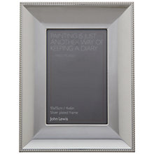 "Buy John Lewis Henley Silver Plated Photo Frame, 4 x 6"" (15 x 10cm) Online at johnlewis.com"