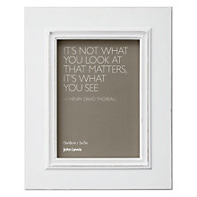 "Buy John Lewis New Distressed Photo Frame, Cream, 5 x 7"" (13 x 18cm) Online at johnlewis.com"