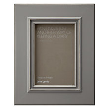 "Buy John Lewis New Pearl Distress Photo Frame, Grey, 4 x 6"" (15 x 10cm) Online at johnlewis.com"