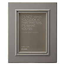 "Buy John Lewis New Distressed Photo Frame, Pearl Grey, 5 x 7"" (13 x 18cm) Online at johnlewis.com"