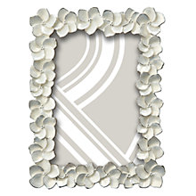 "Buy John Lewis Petal Photo Frame, Ivory, 4 x 6"" (15 x 10cm) Online at johnlewis.com"