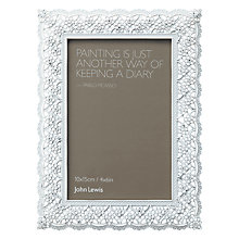 "Buy John Lewis Pewter Lace Photo Frame, 4 x 6"" (15 x 10cm) Online at johnlewis.com"