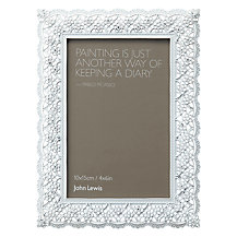 John Lewis Pewter Lace Photo Frame Range