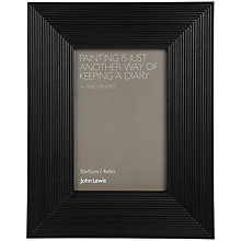 "Buy John Lewis Ribbed Photo Frame, Black, 4 x 6"" (15 x 10cm) Online at johnlewis.com"