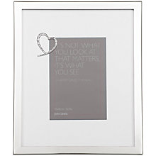 "Buy John Lewis Wedding Heart Photo Frame, Silver, 5 x 7"" (13 x 18cm) Online at johnlewis.com"