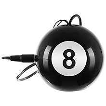 Buy KitSound Mini Buddy 8 Ball Speaker, Black Online at johnlewis.com
