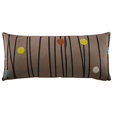 Buy G Plan Vintage Bolster Cushion, Dash Dot Grey Online at johnlewis.com