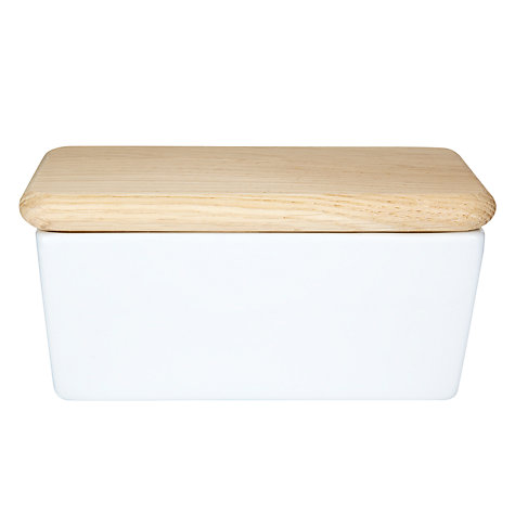 Buy LSA Dine Butter Dish with Oak Lid Online at johnlewis.com
