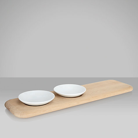 Buy LSA Dine Condiment Set with Oak Platter Online at johnlewis.com
