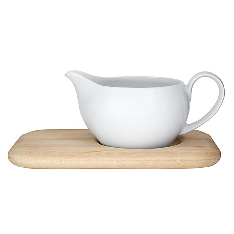 Buy LSA Dine Sauce Boat with Oak Stand Online at johnlewis.com