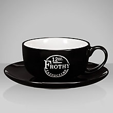 Buy John Lewis Barista Cappuccino Cup and Saucer, Black Online at johnlewis.com