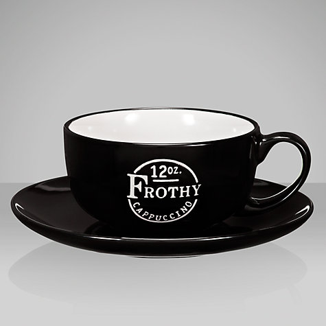 Buy John Lewis Barista Cappuccino Cup and Saucer, 0.34L, Black Online at johnlewis.com