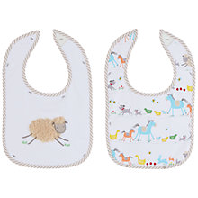 Buy John Lewis Farmyard Baby Bibs, Pack of 2 Online at johnlewis.com