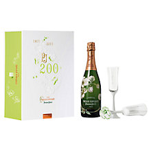 Buy Perrier Jouet Cuvée Belle Epoque Champagne and Glasses Set, 75cl Online at johnlewis.com