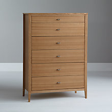 Buy House by John Lewis Maine 6 Drawer Chest, Ash Online at johnlewis.com