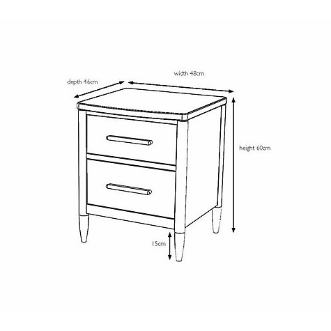 Buy ercol for John Lewis Chiltern Bow 2-drawer Bedside Table, Oak Online at johnlewis.com