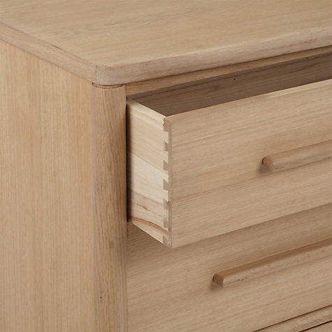 Buy ercol for John Lewis Chiltern Bow 3 Drawer Chest, Oak Online at johnlewis.com