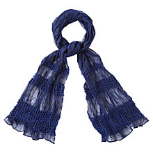 Buy Viyella Bobble Scarf, Cobalt Online at johnlewis.com