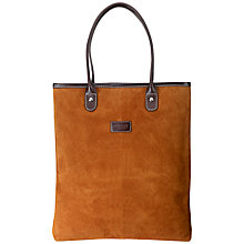 Buy Osprey LONDON Zone Suede Tote Handbag, Tan Online at johnlewis.com