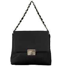 Buy John Lewis Madison Satin Shoulder Bag, Black Online at johnlewis.com