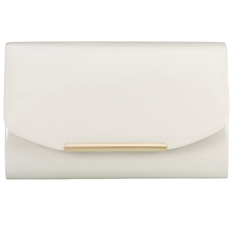 Buy John Lewis Patent Clutch, Cream Online at johnlewis.com