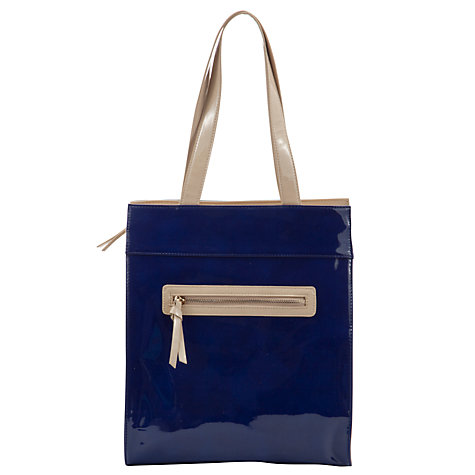 Buy John Lewis Zippy Patent Colour Block Tote Handbag Online at johnlewis.com