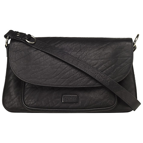 Buy OSPREY LONDON Large Monroe Shoulder Handbag, Black Online at johnlewis.com