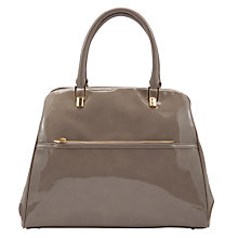 Buy COLLECTION BY John Lewis Vintage Patent Bowling Bag, Grey Online at johnlewis.com