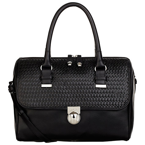 Buy Modalu Daisy Leather Weave Bowling Handbag Online at johnlewis.com