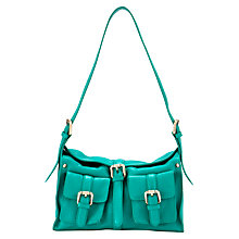 Buy Collection WEEKEND by John Lewis Mini Double Pocket Leather Grab Bag Online at johnlewis.com