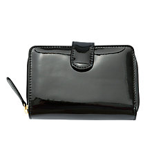 Buy John Lewis Shapes Ziparound Purse, Black Online at johnlewis.com