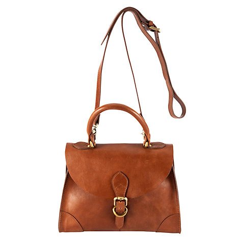 Buy Collection WEEKEND by John Lewis Vintage Veg Small Top Handle Leather Handbag Online at johnlewis.com