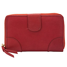 Buy Collection WEEKEND by John Lewis Medium Flap Zip Around Purse, Red Online at johnlewis.com